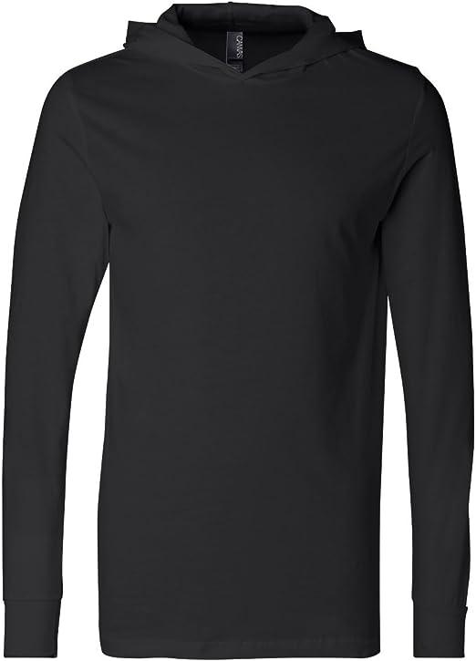Bella Canvas Unisex Long Sleeve Jersey Hooded Tee 3512 XS-XL