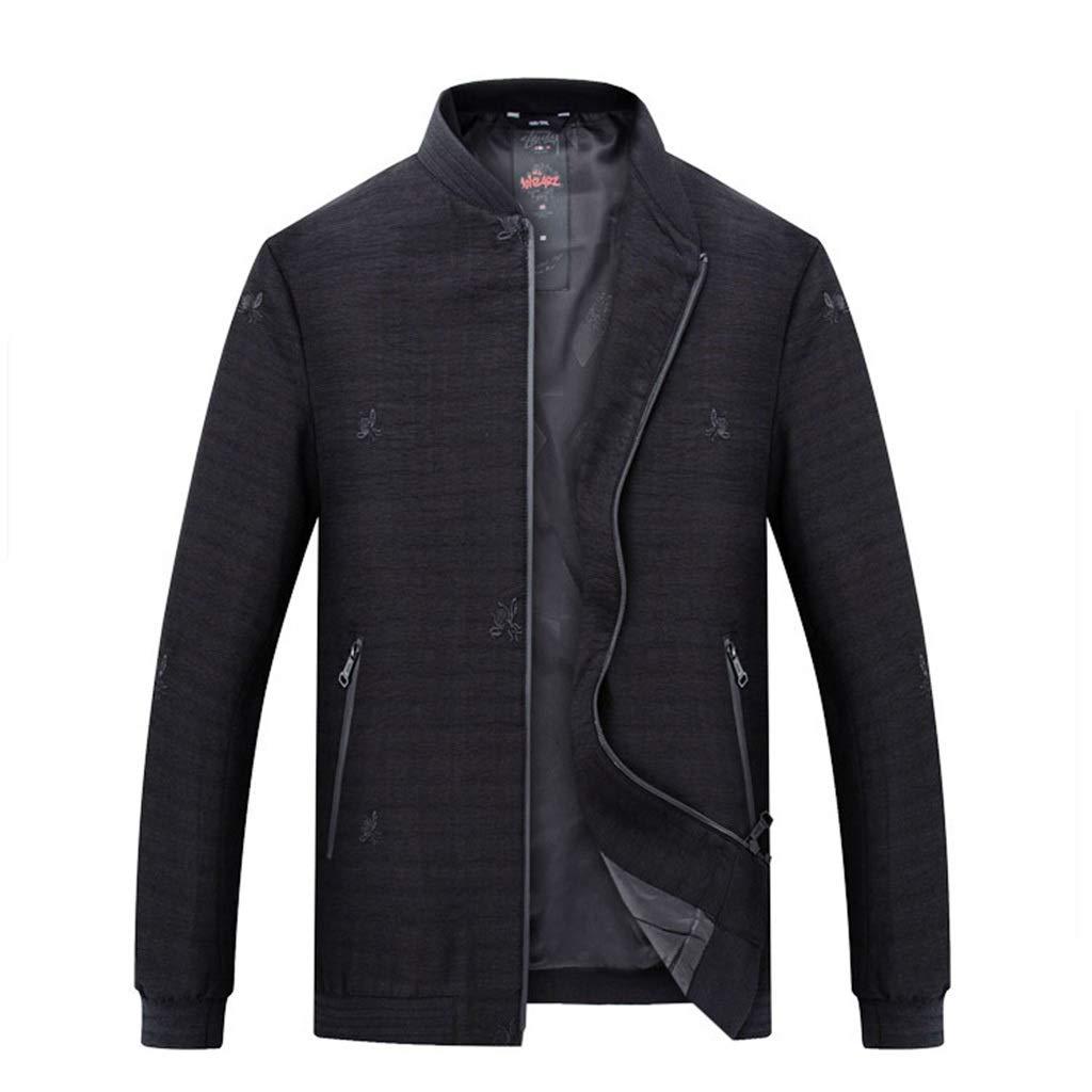ゴルフジャケット スプリングコート 太めのメンズジャケット 春の旅行服 カジュアルウェア 重たいメンズジャケットに最適 極薄コート メンズスプリングジャケット アウトドアスポーツウェア 大人用ジャケット ゆったりした服 快適 8XL ブラック 8XL ブラック B07PJY31DP