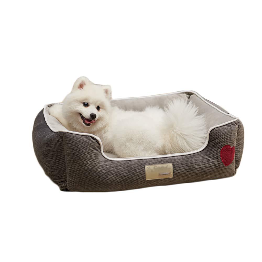 Cuccia WWXX- Pet Mats, Cani Furry Small Pets Bed, Animal Warm, Grigio Lavabile Traspirante per Animali Domestici (Dimensioni   L.)