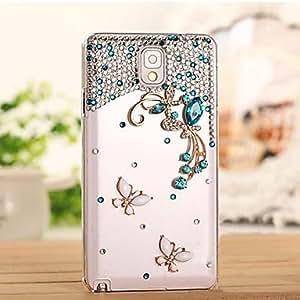 YULIN mariposa de diamantes de lujo caso de la contraportada para Samsung Galaxy Note 3 n9006 (colores surtidos) , Pink