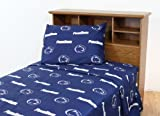 College Covers Penn State Nittany Lions Printed Sheet Set - Full - Solid