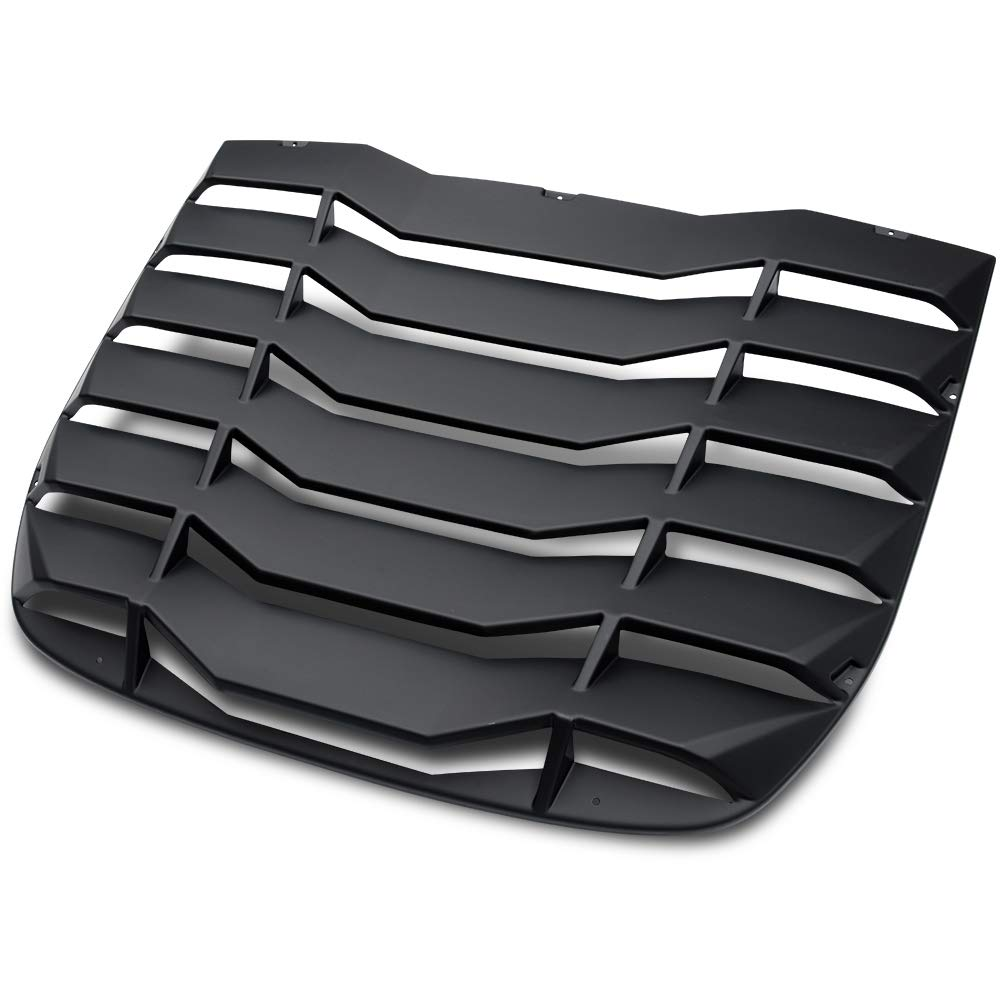 VRracing New Matte Black Rear Windshiled Louvers Cover for 2009-2019 Nissan 370Z 3.7L 2Door Sun Shade Cover ABS 2010 11 12 13 14 15 16 17 18 19