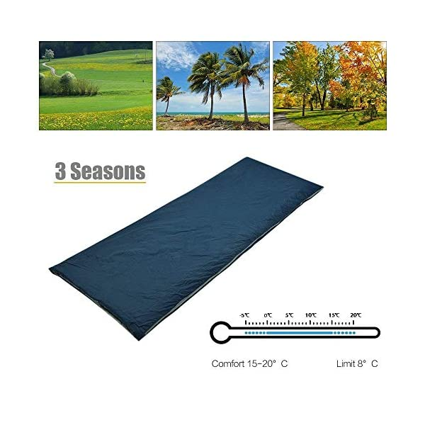 ieGeek Sleeping Bag, Lightweight Envelope Sleeping Bags with Compression Sack Portable Waterproof for 3 Season Travel Camping Hiking Backpacking Outdoor Activities,Ultra-Large for Kid/Adults 5