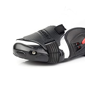 Black Motorcycle Shoes Protective Motorbike Motorcycle Gear Shifter Shoe Boots