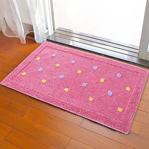 Flocking carpet Water absorption carpet WC bathroom Non-slip mat bedroom Entrance The door Foot pad Door mats , M , 5080cm