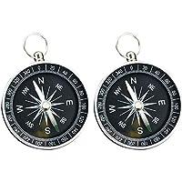 Lezed (2 stuks kompas, bergbeklimmen kompas, outdoor-camping wandel-navigatie kompas, licht, gemakkelijk te dragen