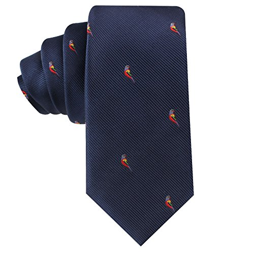 Animal Ties   Woven Neckties   Gift for Men   Work Ties for Him   Birthday Gift for Guys (Red Parrot)