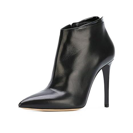 LIANGJUN Botines Tacón Alto Primavera Invierno Mujer Zapatos, 7 Tamaños (Color : Negro,