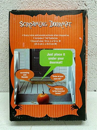 1 X Pressure Sensitive SCREAMING DOORMAT Halloween Decoration BATTERY OPERATED (Just Place It Under Your Doormat) (Halloween 1 Decorations)