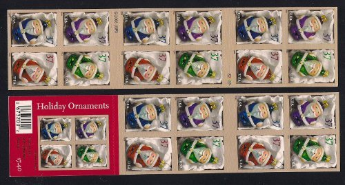 [2004 Holiday Santa Claus Ornaments  #3886b Booklet of 20 x 37 cents US Postage Stamps] (Postage Stamp Costume)