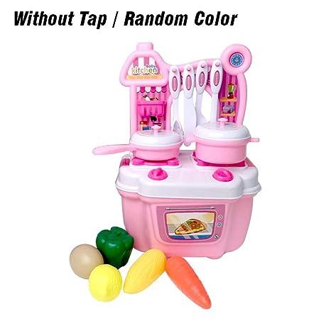 Awesome Mini Cocina De Juguete Incluye Múltiples Accesorios,Juegos Divertidos Para  Niños Y Niñas