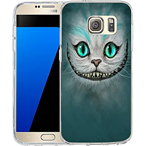 S7 Case Funny Cheshire cat, LAACO Scratch Resistant TPU Gel Rubber Soft Skin Silicone Protective Case Cover for Samsung Galaxy S7 Sales