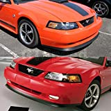 GT-Speed for 1999-2004 Ford Mustang GT V6 V8 Mach I USDM OE Style PU Front Bumper Lip