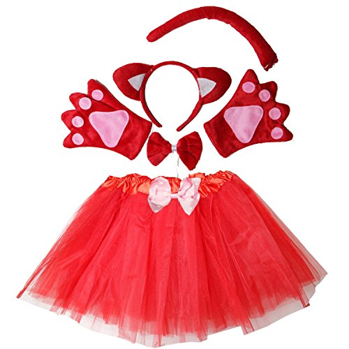 Kirei Sui Kids Costume Tutu Set Red (Fox Costumes For Girls)
