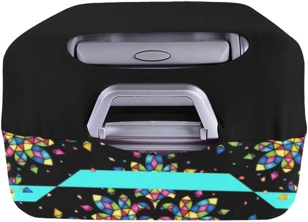 Mosaic Color Tile Texture Spandex Trolley Case Travel Luggage Protector Suitcase Cover 28.5 X 20.5 Inch