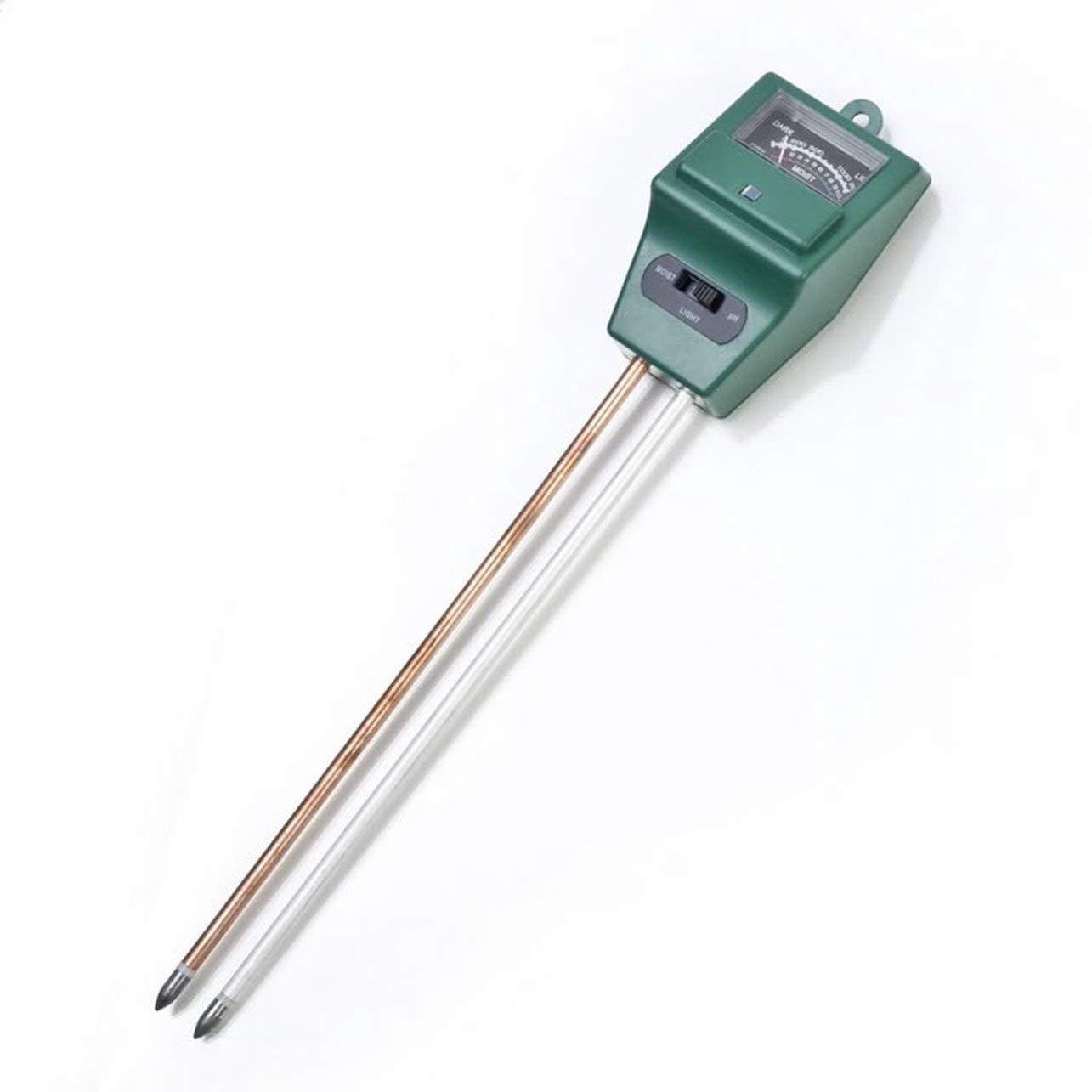 WOSOSYEYO 3 en Humedad del Agua del Suelo 1 Probador de pH Detector de Suelo Medidor de Prueba de luz de Humedad del Agua Sensor para Flor de Planta de jard/ín