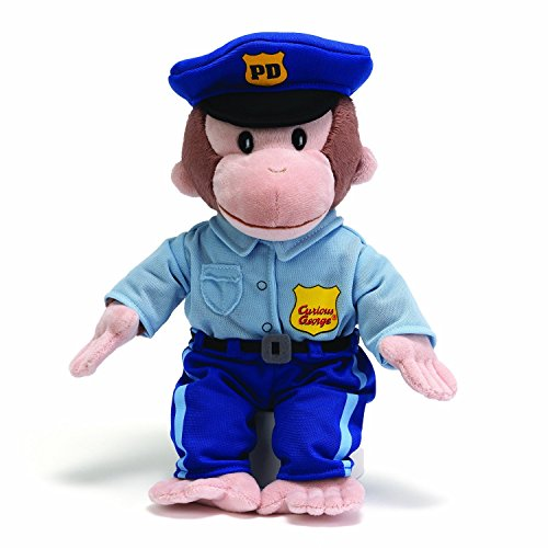 [Gund Curious George Policeman Stuffed Animal] (Policeman Uniform)