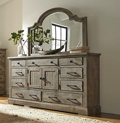 Progressive International Door Dresser with - Armoire Mirror Dresser