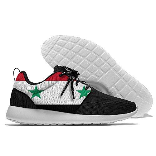 Yoigng Mens Syriens Flagga Jogging Skor Sportskor Casual Skor