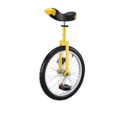 Basic 24 Inch Wheel Unicycle with Alloy Rim,Yellow: Home & Kitchen