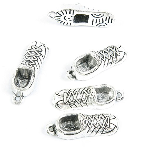 Qty 10 Pieces Antique Silver Tone Jewelry Making Supply Charms Findings W9AF1 Sports Shoes Sneakers