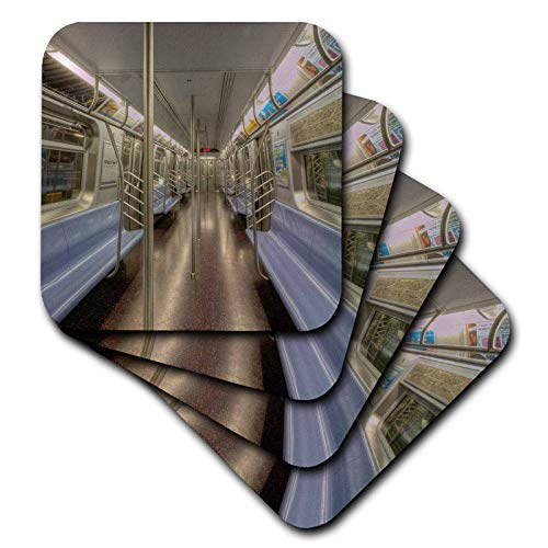 3dRose Roni Chastain Photography - NYC subway car, empty - set of 8 Coasters - Soft ()