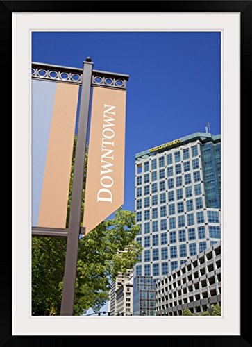 Greatbigcanvas  Wells Fargo Bank And Street Sign  Photographic Print With Black Frame  24  X 36