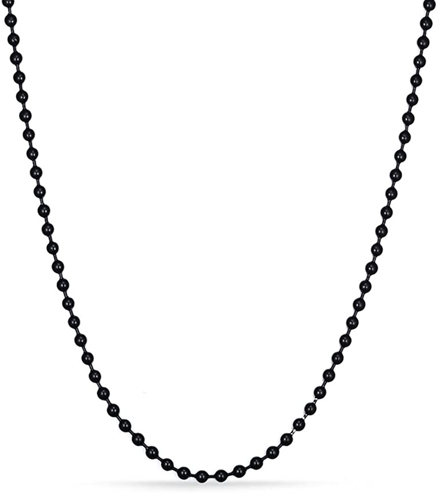 VNOX Stainless Steel Bead Ball Chain Necklace for Men Women Pendant Accessory Chain 2.4mm,24""