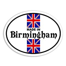Made In Birmingham - Union Jack Flag Car Bike Van Camper Decal Bumper Sticker
