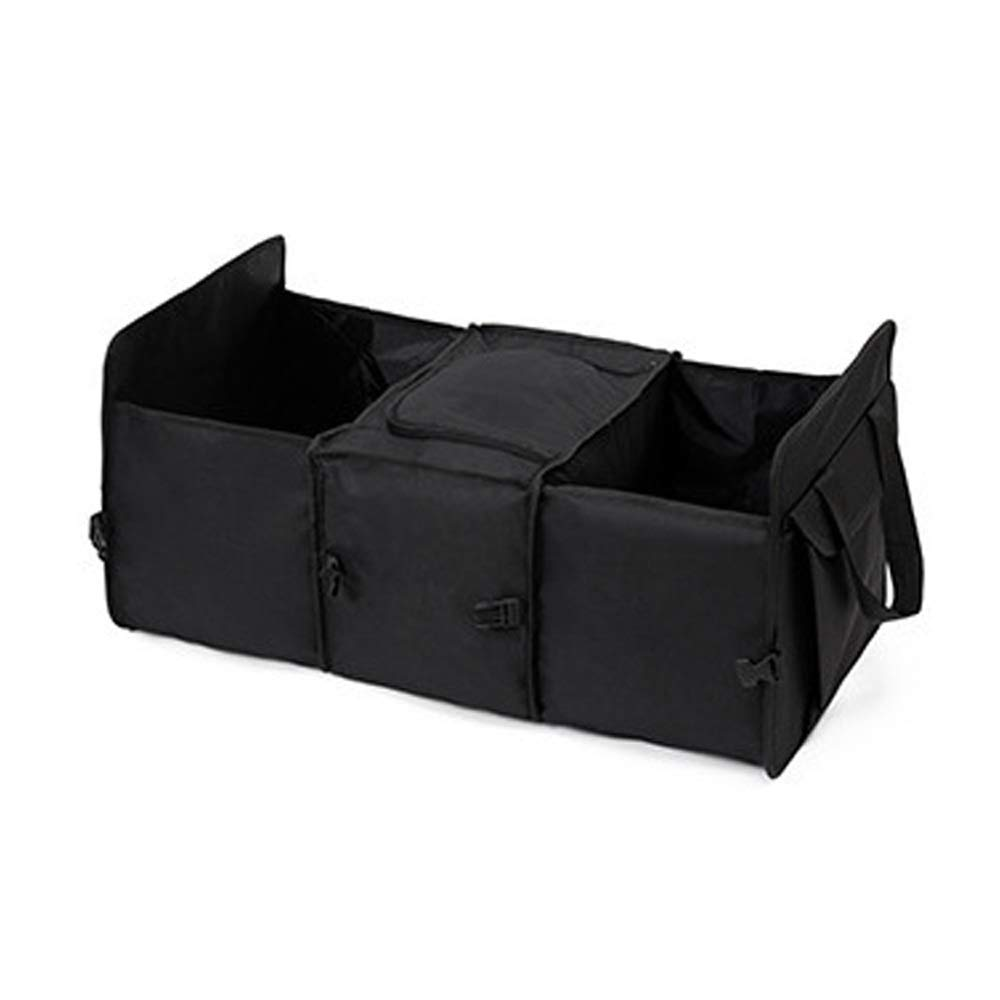 Organisateur de voiture portatif - Boîte de rangement multifonctionnelle isolante, stockage du coffre en tissu Oxford 600D, idéale pour une organisation automatique rangée, le sac de voyage sécurisé a