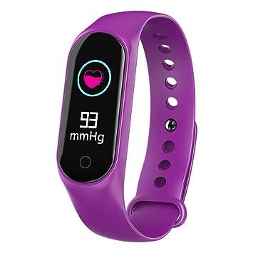 Fuibo Smart Watch, Smart Color Screen Tensiómetro de frecuencia cardíaca práctica podómetro Smartwatch Reloj de Pulsera Sport Fitness Tracker Pulsera, ...