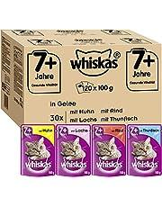 Whiskas 7 + Katzenfutter – Hochwertiges Nassfutter für gesundes Fell – Feuchtfutter in verschiedenen Geschmacksrichtungen