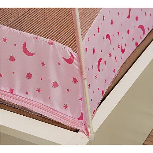 Mosquito Net Bed Canopy Yurt Bed Type Two-Door Zipper Net Tent Bracket Heightening Anti-Mosquito Indoor/Outdoor Decorative Height 150CM,Pink,120200CM by LINLIN MOSQUITO NET (Image #5)