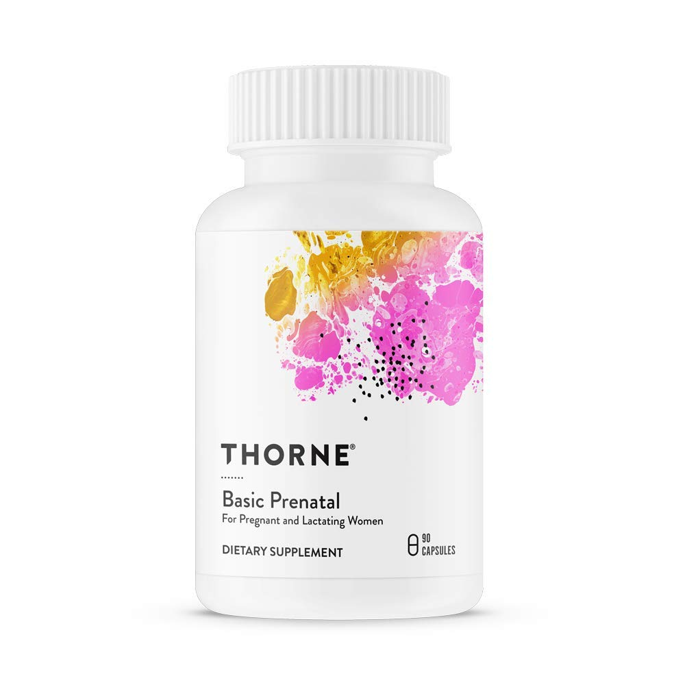 Thorne Research - Basic Prenatal - Folate Multivitamin for Pregnant and Lactating Women - 90 Capsules by Thorne Research