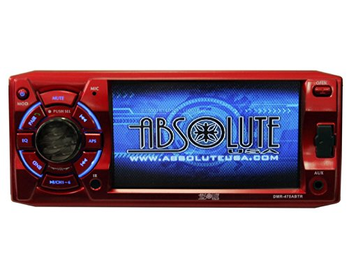Absolute USA DMR-475ABTR 4.8-Inch DVD/MP3/CD Multimedia Player with USB, SD Card, Built-in Bluetooth and Analog TV Tuner (Red)
