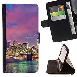 Momo Phone Case / Flip Funda de Cuero Case Cover - Allume pont de la rivière de l'Architecture - LG G4 Stylus H540