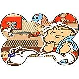 Snoopy Linus Lucy Charlie Brown Love Art Design Custom Logo Dog Pet Cat ID Tag Bone Shape Personalized Key Ring