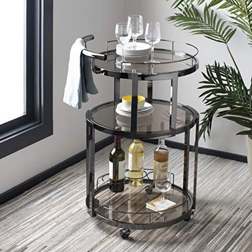 Safavieh BCT8002B Rio Bar Cart Black Nickel Tea