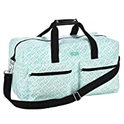 SCOUT Duffy Large Travel Duffle Bag, Ample Pockets, Adjustable Strap, Water Resistant, Zips Closed, Aqua Fresca