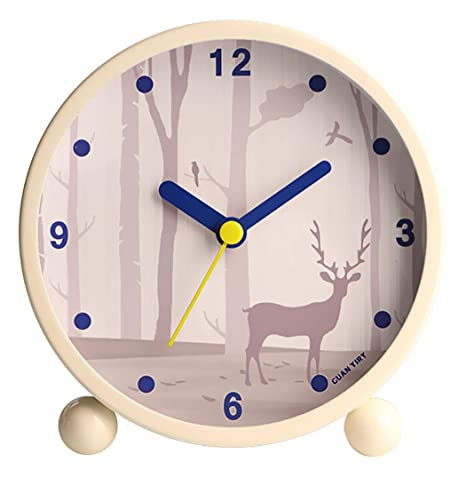 JUSTDOLIFE Reloj Despertador Moda Patrón Lindo LED Luz Nocturna ...