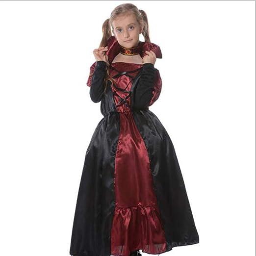 Traje de vampiro femenino para niños de Halloween, vestido de ...