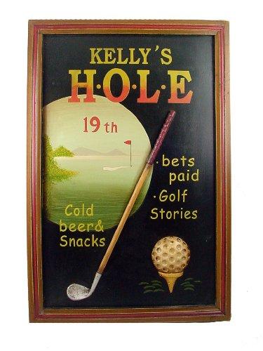 Bar Art - Kelley's 19th Hole Golf 3 Dimesional Wall Decor - (19th Hole Sign)