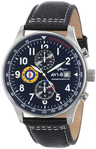 AVI-8-Mens-AV-4011-03-Hawker-Hurricane-Analog-Japanese-Quartz-Black-Watch