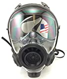 Israeli Military Spec Gas Mask NBC 40mm Full Face Emergency Preparedness Respirator - Made in 2017 (400/3 BB - Med/Lrg Gas Mask)