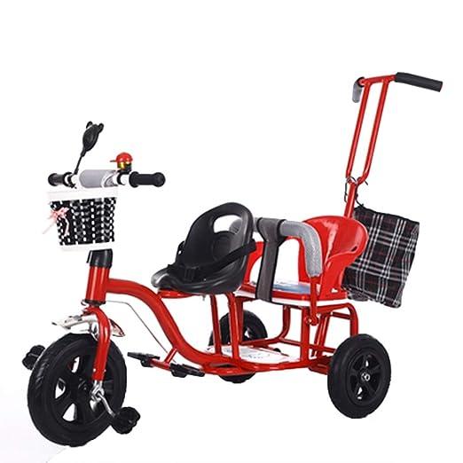 YUMEIGE triciclos Triciclo para niños Doble Asiento ...