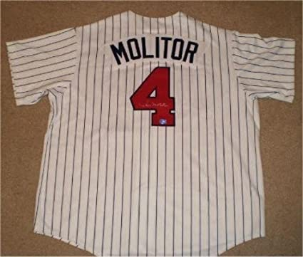 pick up 82bf8 78a48 Signed Paul Molitor Jersey - #4 Majestic Coa - Autographed ...