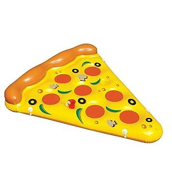 180 cm hinchable Pizza Slice piscina flotante balsa, adultos niños gigante agua juego juguetes salón silla flotador cama colchón de aire: Amazon.es: ...
