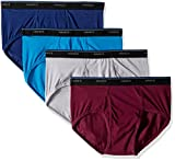 Hanes Men's 4-Pack ComfortBlend Dyed Briefs, Assorted, Large