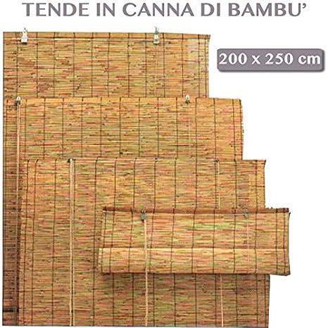 Tende Di Bambu Per Esterno.Arella Bamboo Con Carrucola Da Esterno Giardino Tende Da Sole Per Arredo Esterno 200x250 Cm