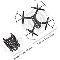 Aurorax 8807 Drone WIFI FPV RC Quadcopter HD Camera Foldable 2.4G 4CH Altitude Hold Selfie Fold Mini UFO Toys For Kids and Adults,with Battery 900MAH 3.7V (A)